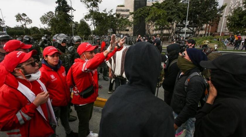 Manifestaciones en Bogota paro nacional 21 septiembre