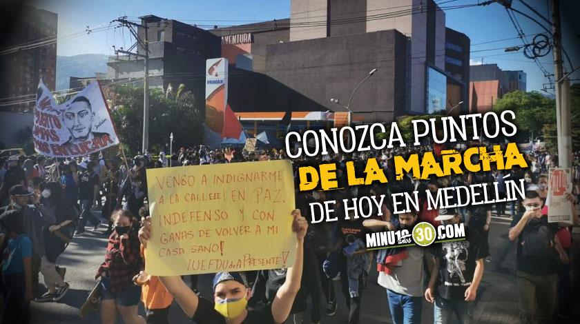 Marchas Medellin 21 S septiembre movilizacion paro