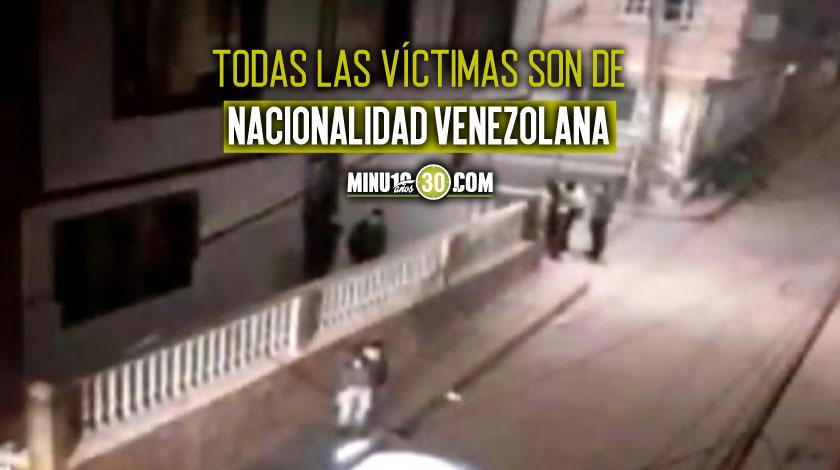 Matan a 3 personas en Bogota y Policia culpa a bandas de Venezuela