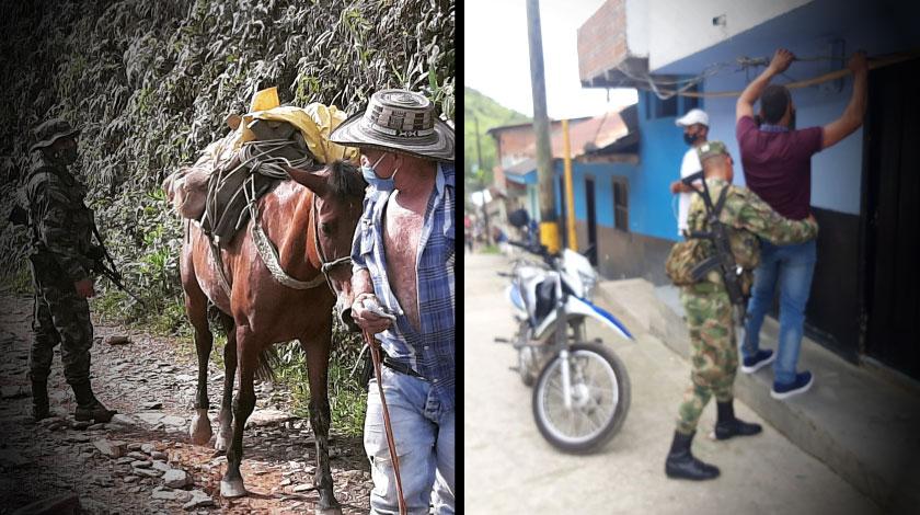 Operativos del Ejercito Nacional en el municipio de Ituango Antioquia