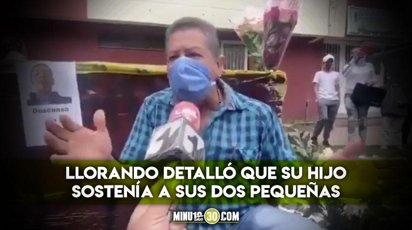 Padre del domiciliario muerto en protestas hablo sobre como mataron a su hijo