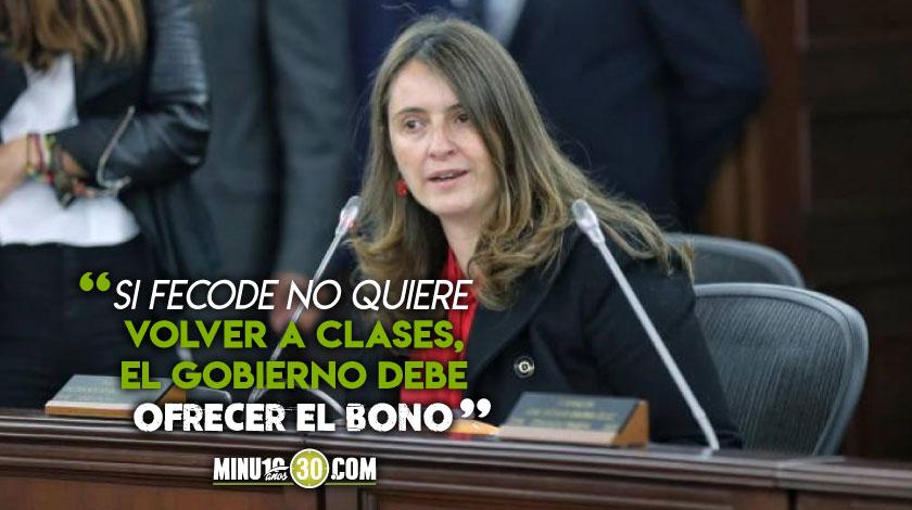 Paloma Valencia propuesta bono colegios privados estudiantes publicos
