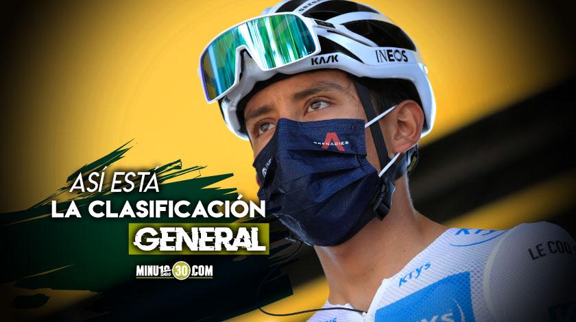 Uno tras otro asi quedaron ubicados los colombianos en el Tour tras la octava etapa