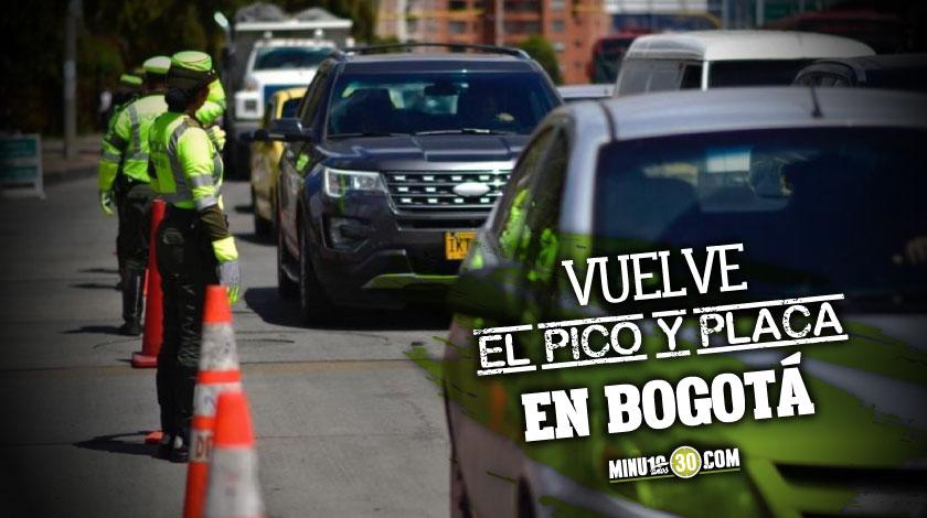 Vuelve el pico y placa en Bogota