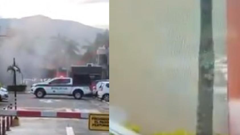 Detonación granada Centro Automotriz