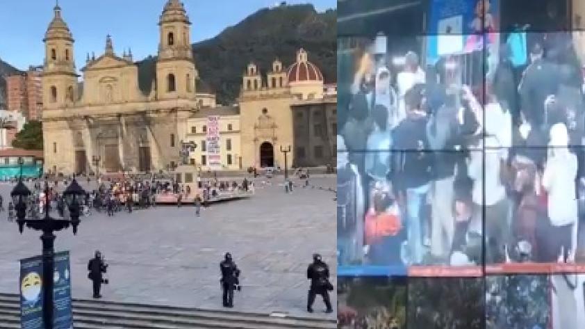 Actos vandálicos en Bogotá