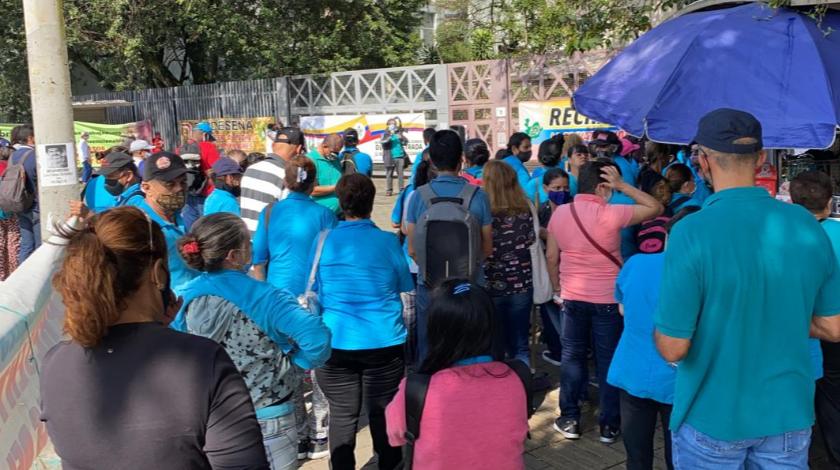 manifestacion funcionarios metrosalud