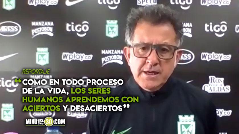 Asi analizo Juan Carlos Osorio el proceso que vive Atletico Nacional bajo su orientacion