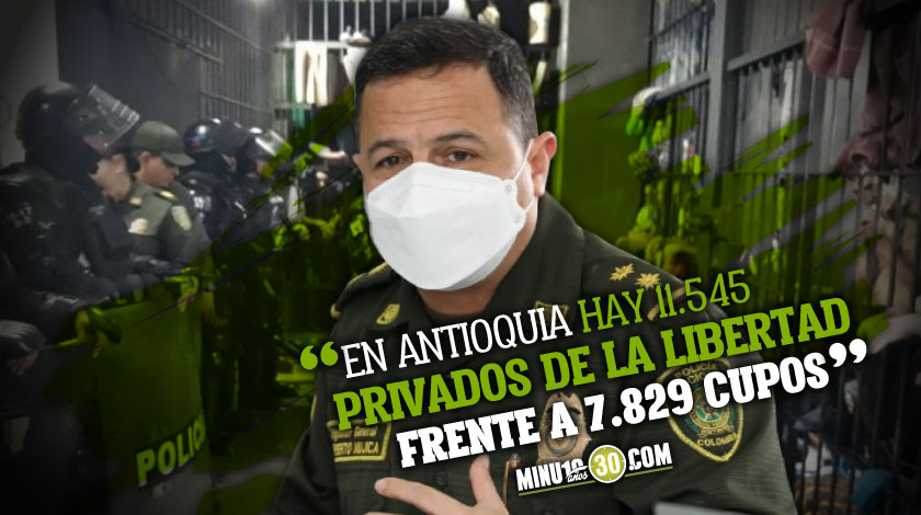En los centros carcelarios de Antioquia hay un hacinamiento del 48