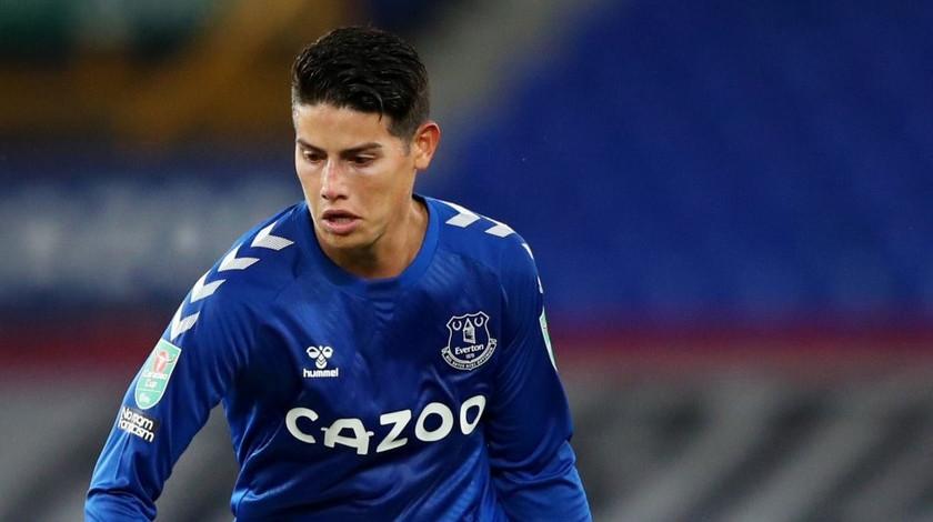 James Rodriguez Colombiano jugador de Everton Inglaterra Premier