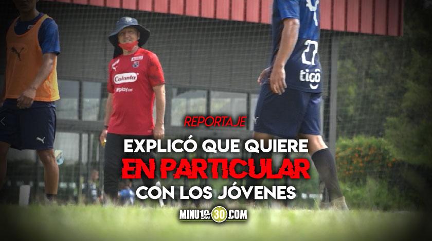 Javier alvarez enfatiza en los objetivos que tiene en Independiente Medellin