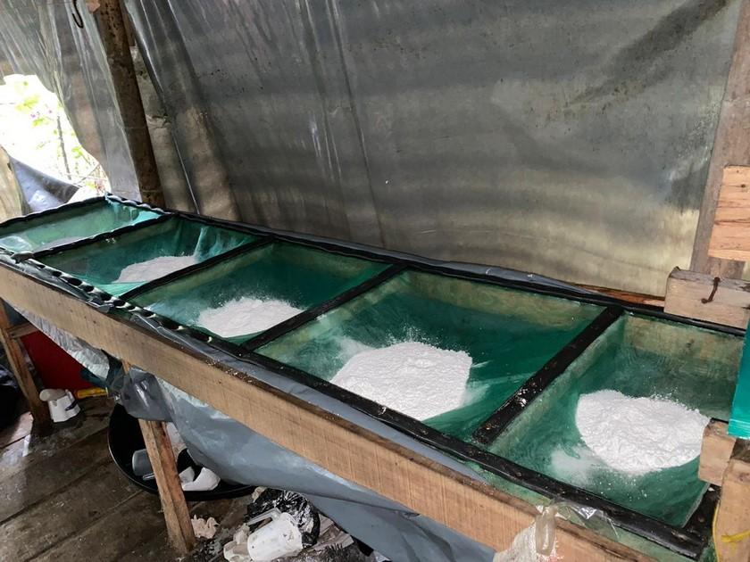 Laboratorio de cocaina de Los Chatas en El Carmen de Viboral 15
