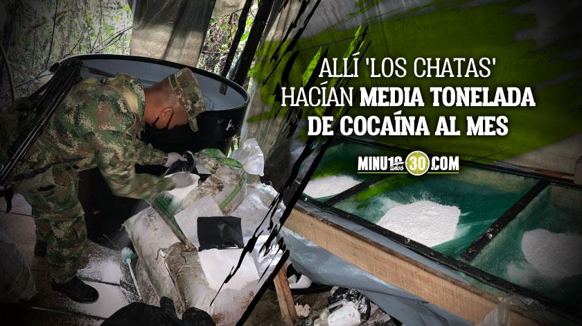 Laboratorio de cocaina de Los Chatas en El Carmen de Viboral