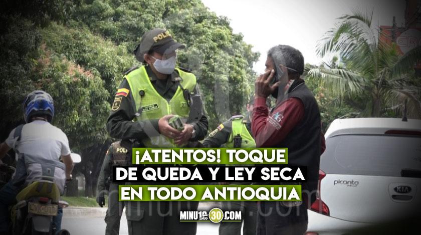 Ley seca toque de queda Antioquia celebracion de Halloween 2020 pandemia