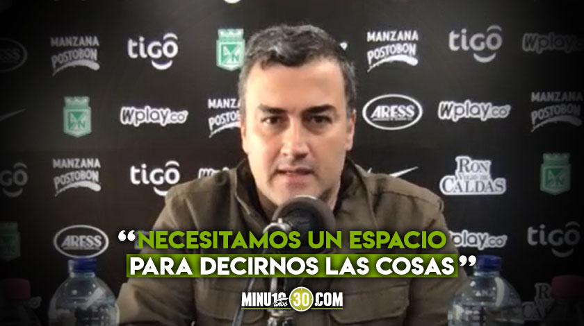 Presidente de Nacional reconoce que hay marcadas diferencias entre dirigentes del futbol colombiano
