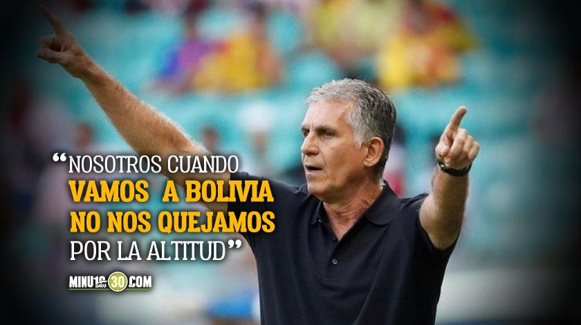 Colombia no tiene porque consultar el horario de partido con el rival sentencio Queiroz