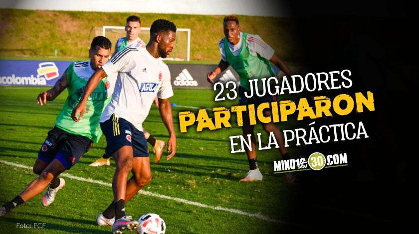 Colombia tuvo su primer entrenamiento de cara a partido frente a Uruguay