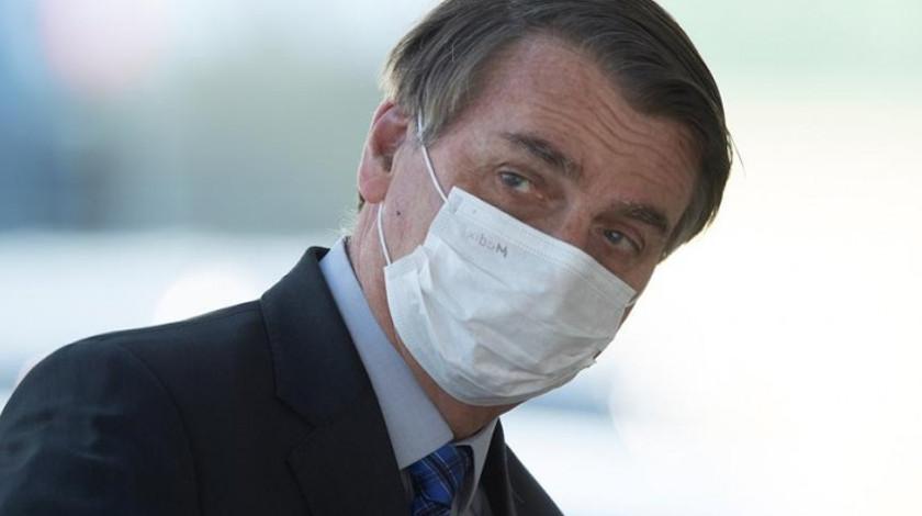 Jair Bolsonaro presidente de Brasil con coronavirus