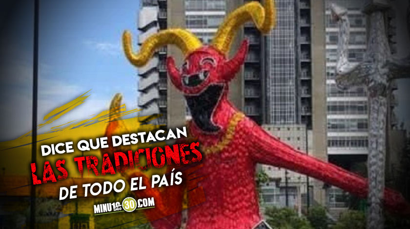 La explicacion del alcalde Daniel Quintero sobre el por que se instalo un diablo en los alumbrados