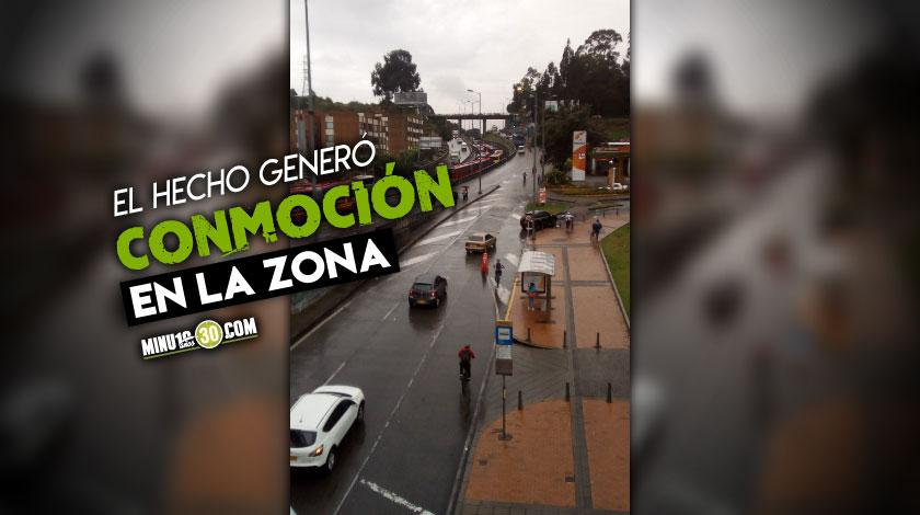 Una persona se lanzo desde puente de TransMilenio y acabo con su vida