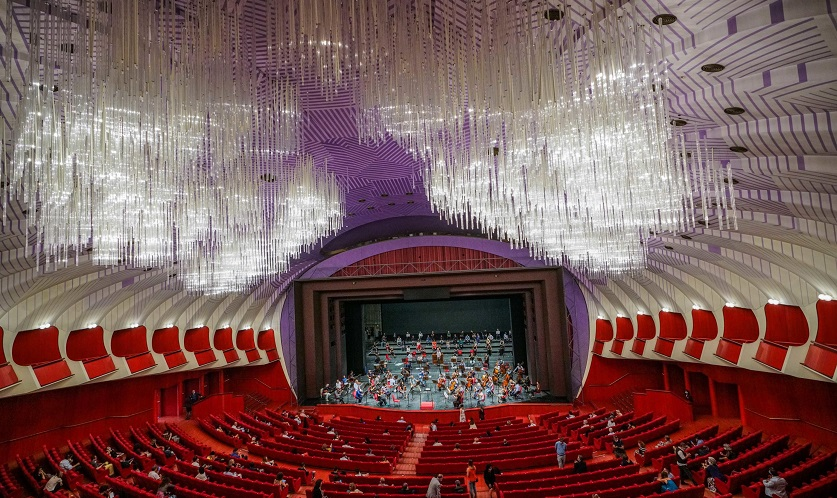 Vista general del Teatro Real de Turín durante el primer concierto ofrecido en julio tras su reapertura tras tres meses cerrado por el coronavirus en Turín, Italia. EFE/Tino Romano/Archivo