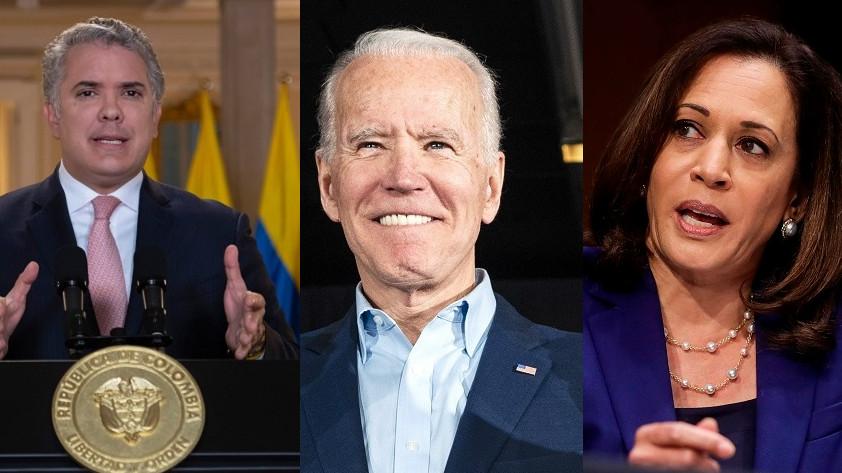Duque felicita a Biden y a Harris