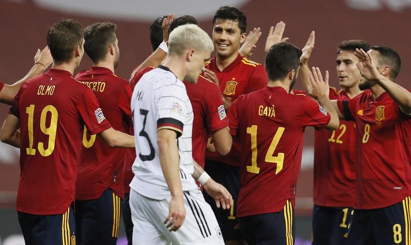 España goleó a Alemania en Liga de Naciones