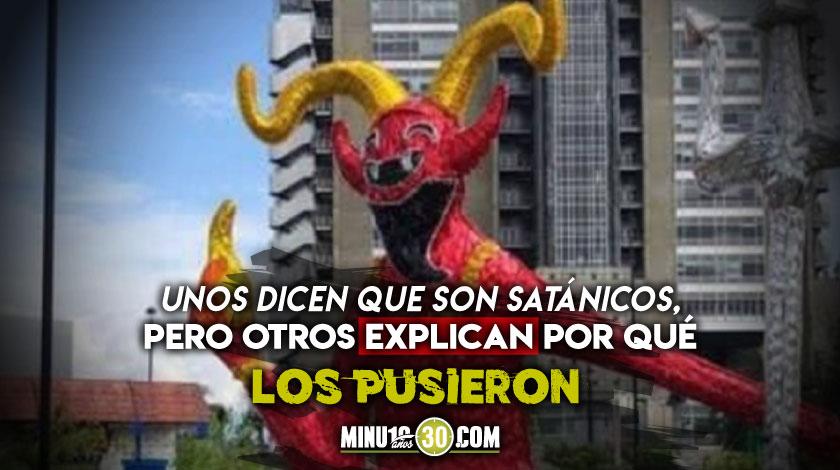 polemica en Medellin por imagenes del diablo en los alumbrados navidenos