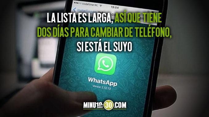 A cambiar el coquito Whatsapp confirmo en cuales celulares dejara de funcionar el 1 de enero 1