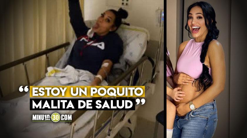 Andrea Valdiri fue hospitalizada en Barranquilla