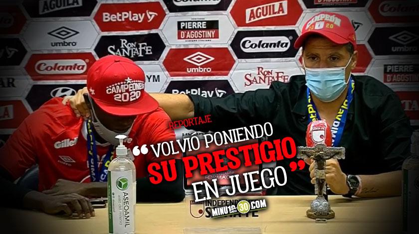Elogios por doquier entre Juan Cruz Real y Adrian Ramos