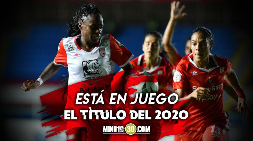 Santa Fe y America definiran este domingo el campeon de la Liga Femenina
