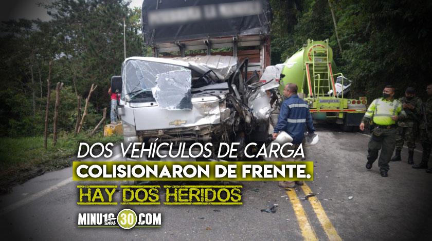 Tremendo incidente en la Medellin Bogota tiene la via completamente cerrada en San Luis 1