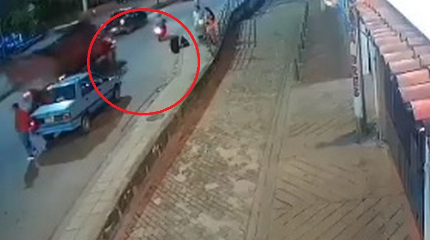 Motociclista atropellado