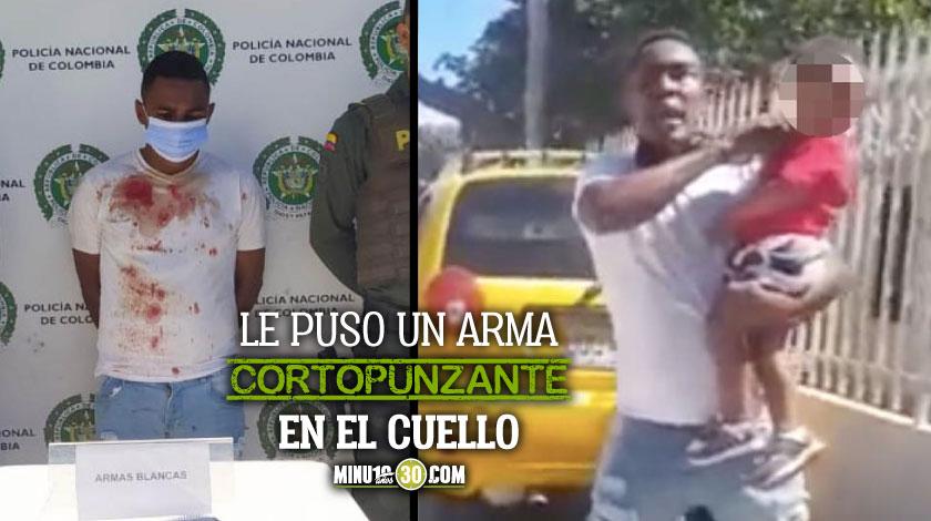 Hombre amenazo con matar a su hijo en Santa Marta