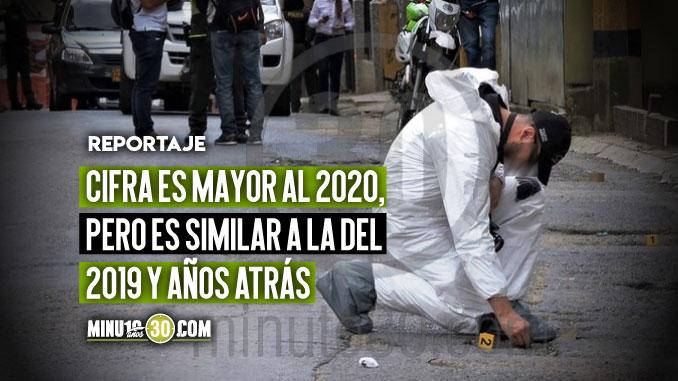 Medellin tiene un leve incremento en los homicidios respecto al 2020 pero las cifras aun son mas bajas de anos atras