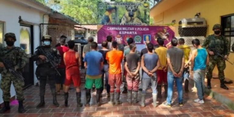 Sujetos capturados por minería ilegal