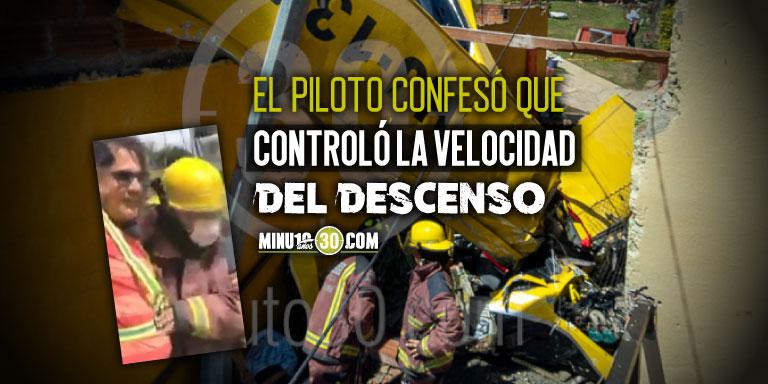 Piloto avioneta accidentada en Copacabana