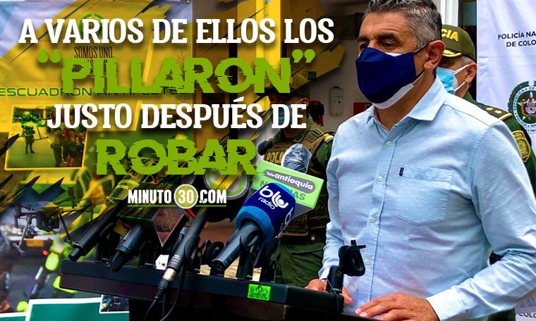 Si da resultados En dos semanas Escuadron Antifleteo ya lleva 20 ladrones capturados en Medellin