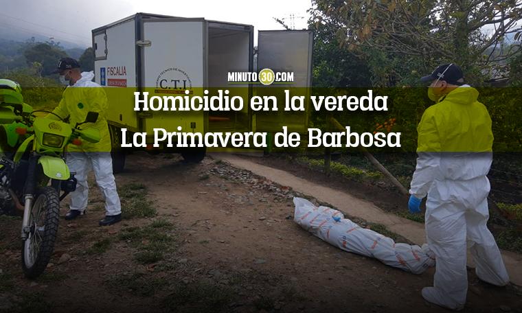Homicidio en Barbosa 25 02 2021