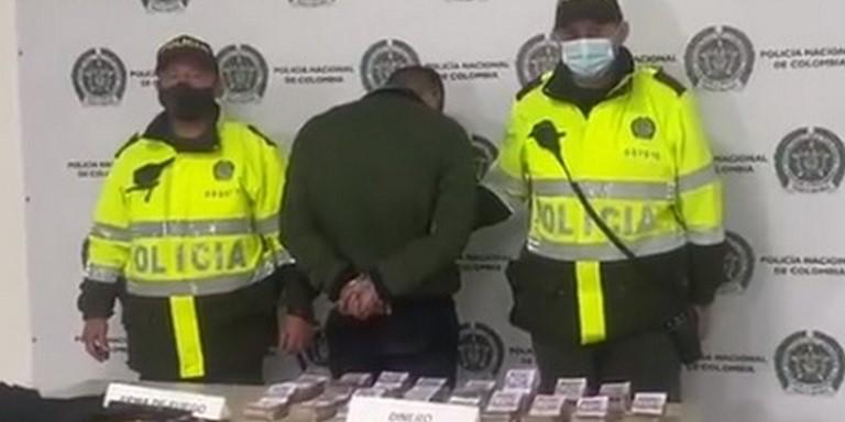 Hombre capturado en Bogotá