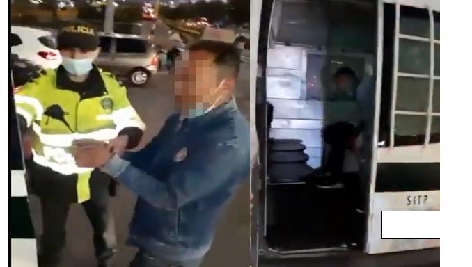 Se hacía pasar como vendedor ambulante en TransMilenio para robar celulares