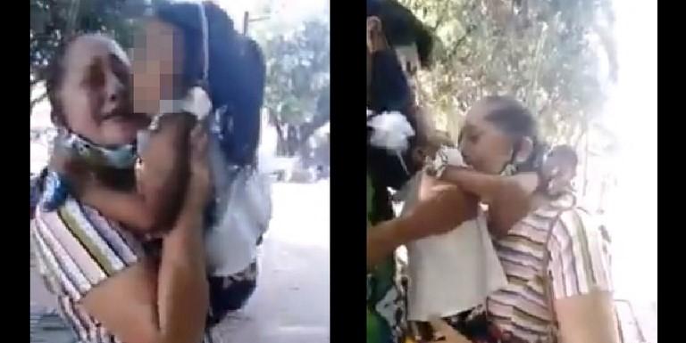 Niña pide a gritos que no la separen de su mamá adop