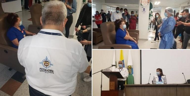 Procuraduría vigila vacunación Covid en Medellín
