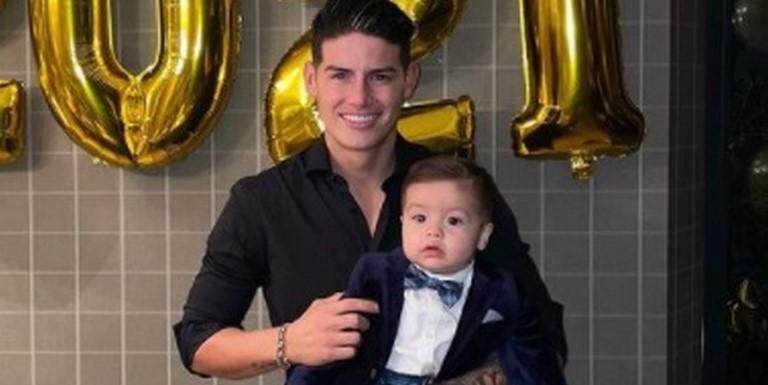 Hijo de James Rodríguez luce lujosa ropa