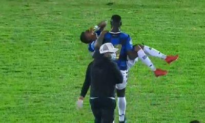 En el estadio del Boyacá Chicó ni camilla hubo para sacar a un jugador golpeado