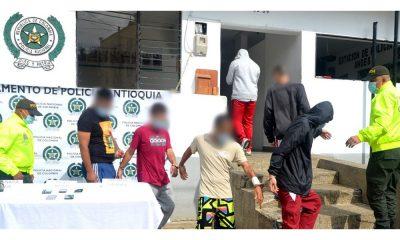 """Video: En Jardín, Antioquia capturaron a """"Chamon"""" presunto jefe de sicarios y cuatro de sus supuestos cómplices"""