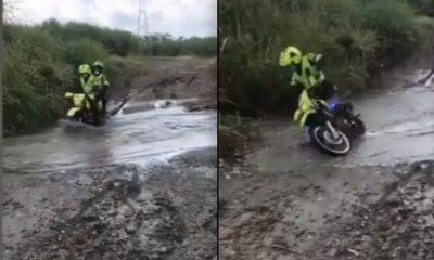 policias caida