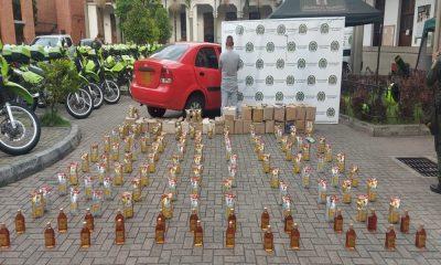 En pleno toque de queda pretendía ingresar licor ilegal y adulterado en Medellín